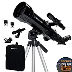 SUPERIOR OPTICS: The Celestron 70mm Travel Scope features high-quality, fully-coated glass optics, a potent 70mm objective lens, a lightweight frame, and a custom backpack to carry it all. Its quality is unmatched in its class and against competitors...