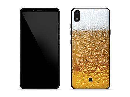 etuo Hülle für LG K20 - Hülle Fantastic Hülle - Bier mit Schaum Handyhülle Schutzhülle Etui Hülle Cover Tasche für Handy