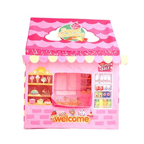 LGRQWER Prinzessin Zelt Kinderzelt Game House Günstig Spielhaus Spielzeug, Für Indoor- Und Outdoor-Garten-Strand-Spielzeug Spielhaus (Pink),A