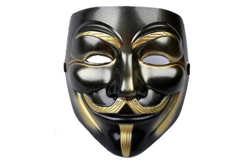 Guy Fawkes Maske Vendetta Mask Cosplay Costume Accessories Black