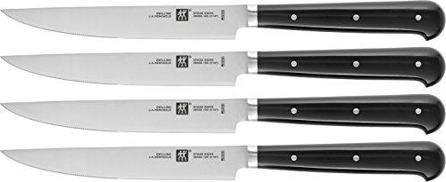 Zwilling Steakset mit Welle, 4 TLG, Edelstahl, Schwarz/Silber, 1 x 1 x 1 cm, 4-Einheiten