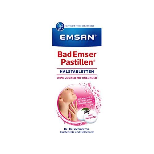Emsan Bad Emser Pastillen ohne Zucker mit Holunder, 30 Tabl.