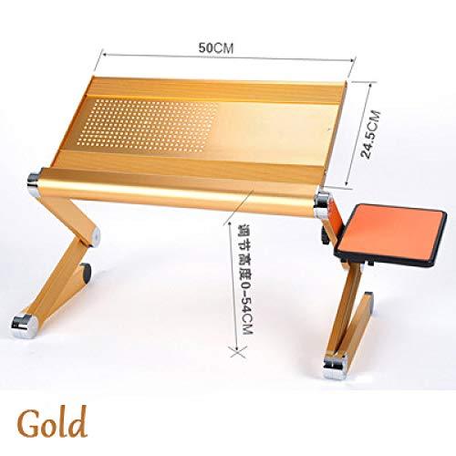 FFDGHB Mini Magic Tragbarer Computertisch, Austauschbarer Laptop-Schreibtisch, Verwendet FüR Sofa/Bett/Outdoor-Reisen Aluminiumlegierung