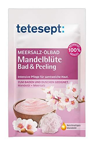 tetesept Meersalz Ölbad Mandelblüte - Bad & Peeling - Zum Baden und Duschen - intensiv pflegend - 1 x 65 g