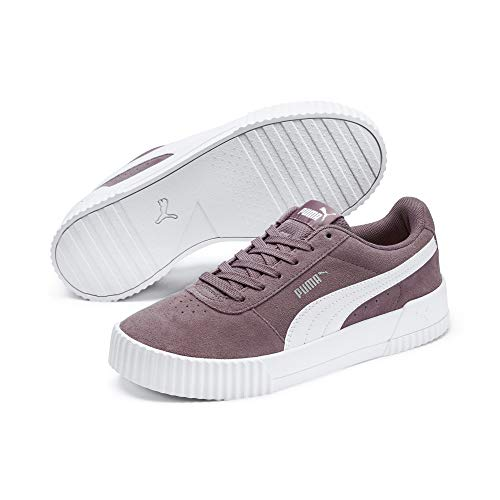 Puma Women's Carina Low Top Sneakers, violet (Elderberry White Silver) 6.5 UK