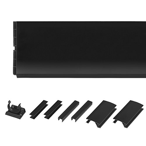 HOLZBRINK 150cm Sockelblende Sockelleiste für Einbauküche 150mm Höhe SCHWARZ Hochglanz - HBK15