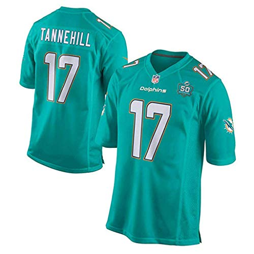 Miami Dolphins NFL Trikot 14# 17# Trikot Fan Edition Stickerei Kurzarm Top T-Shirts-3-XXXL