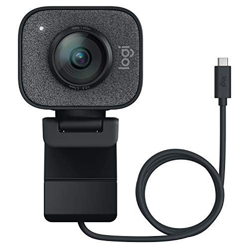 Logitech Streamcam Webcam für Live Streaming und Inhaltserstellung, Vertikales Video in Full HD 1080p bei 60 fps, Smart-autofokus, USB-C, für YouTube, Gaming Twitch, PC/Mac - schwarz