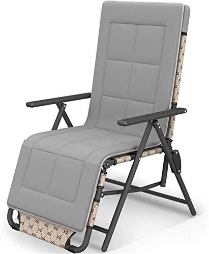 Terraza Tumbonas de Ocio Mecedora reclinable Tumbona reclinable 10 Posiciones Silla marrón Ajustable Muebles de jardín al Aire Libre Cama Plegable para Playa Piscina Patio Pies de Camping Tu