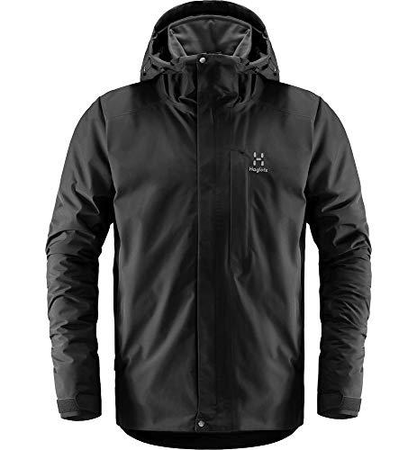 Haglöfs Regenjacke Herren Regenjacke Stratus Jacket Men Wasserdicht, Winddicht, Atmungsaktiv, Small True Black XL XL