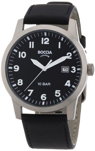 Boccia Herren-Armbanduhr Leder 3631-01