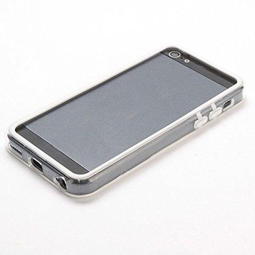 cogac Funda Bumper Blanco Transparente para iPhone 5C Carcasa Protectora