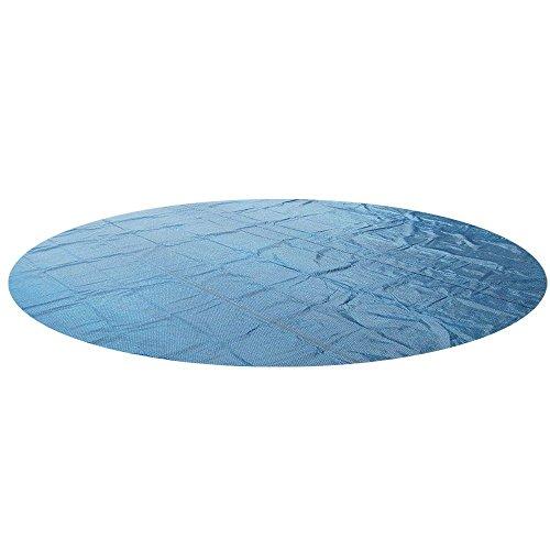 Miganeo - Solarabdeckungen in schwarz/blau, Größe 488 cm rund
