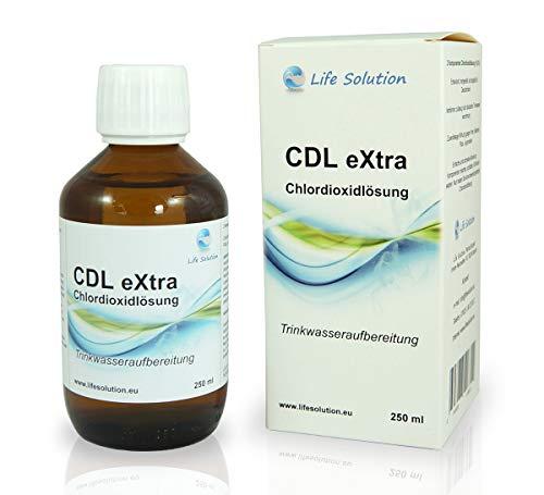CDL eXtra CDS Chlordioxid Lösung 250 ml zur Trinkwasseraufbereitung, extra lange haltbar, Outdoor Wasseraufbereitung