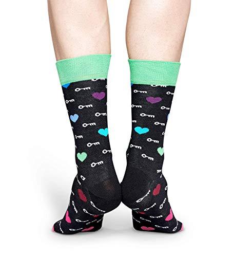 Happy Socks Gemischt farbenfrohe Geschenkbox an Baumwollsocken für Männer und Frauen,Mehrfarbig (I Love You Socks Gift Box),41-46