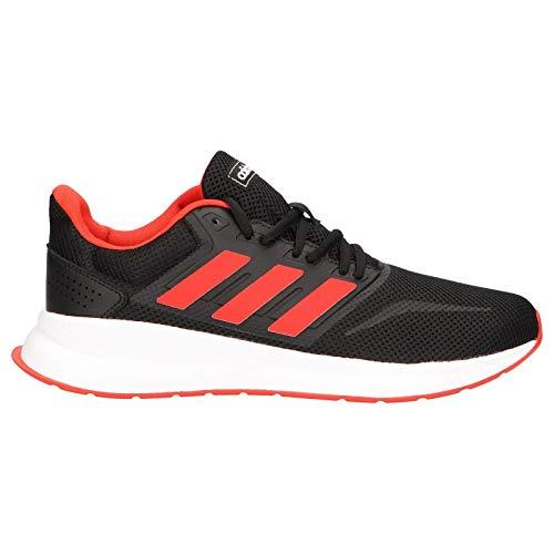 Adidas Runfalcon, Zapatillas de Trail Running para Hombre, Multicolor (Negbás/Rojact/Negbás 000), 42 2/3 EU