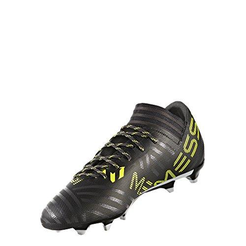 adidas Performance Men's Nemeziz Messi 17.3 FG, Black/White/Solar Yellow, 9.5 Medium US