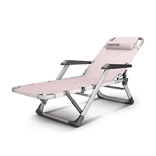 WSDSX Silla Plegable reclinable para Ocio, Silla Inclinada Plegable de Gravedad Cero con pasamanos de Masaje para Viajes al Aire Libre, Playa, Camping