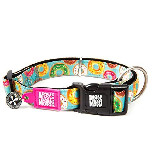 Max & Molly Donuts Smart ID Collar   Cómodo   Neopreno Libre de olores   Etiqueta de identificación Inteligente   Programa de protección de Mascotas perdidas   Collar de Perro extraordinario, XS