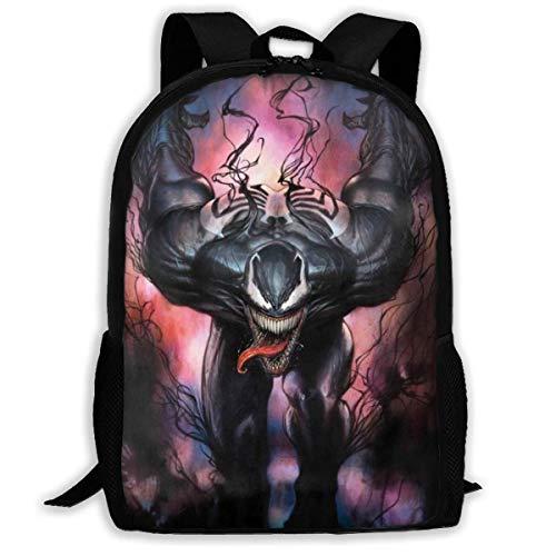 Venom School Book Shoulder Bag Toddler Backpack College Bags Laptop Backpacks for Women Men,Size 43X28X16Cm