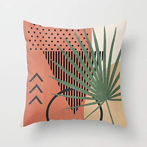 PPMP Pintura Abstracta Moderna Funda de Almohada decoración del sofá del hogar Funda de Almohada geométrica Funda de cojín Funda de cojín A13 45x45cm 1pc