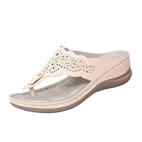 NIxueLILI Womens Elegant Hollow Out Floral Open Toe Wedges Platform Sandal Ladies 2021 Summer Fashion Casual Sandals Girls Trendy Elegant Soft-Soled Sandal Shoes for Dressy