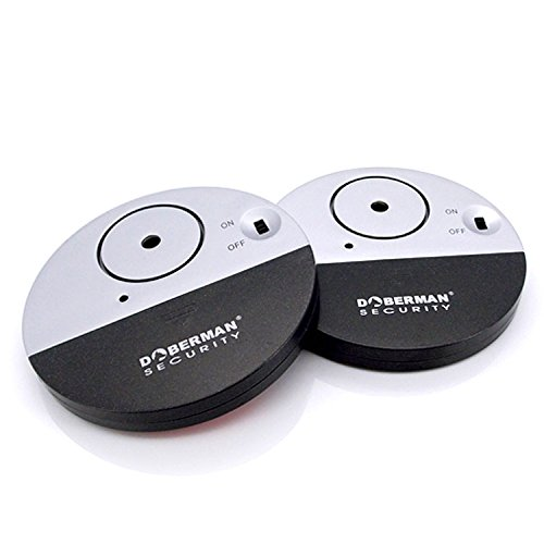 [2 Stück]WER Ultra-Dünner Fensteralarm mit lautem 100dB Alarm und Vibrationssensoren - Modern und ultra-dünnen Design Kompatibel mit jedem Fenster - Modell SE-0106-2