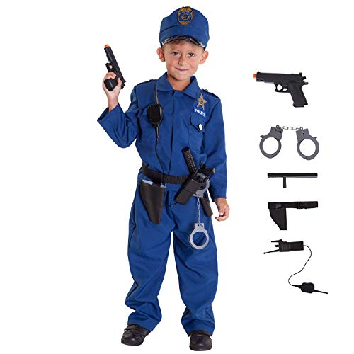 Morph Costumes Police Costume For Kids Blue Police Officer Halloween Costume For Kids M
