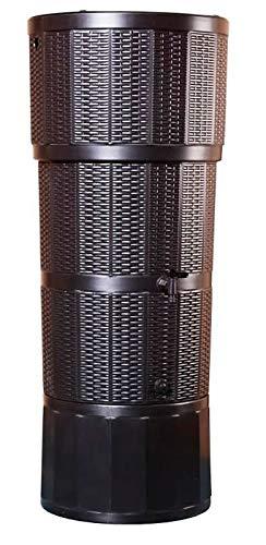 Moderno roble Marrón ratán efecto 150L litros funda de depósito de agua con soporte a juego,...