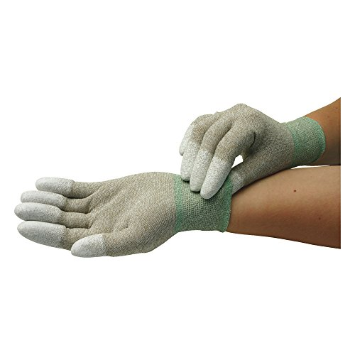 Wetec Handschuhe, PU-beschichtete Fingerkuppen, ESD, XXL, Kupferfaden