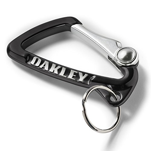 Oakley Mens Large Carabiner Keychain Accessories, Black, One Size