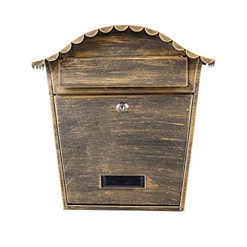 JIAHE115 Inductie vuilnisbak Waterdichte outdoor brievenbus metalen postbus afsluitbare brievenbus Huishoudelijke decoratieve opslag emmer