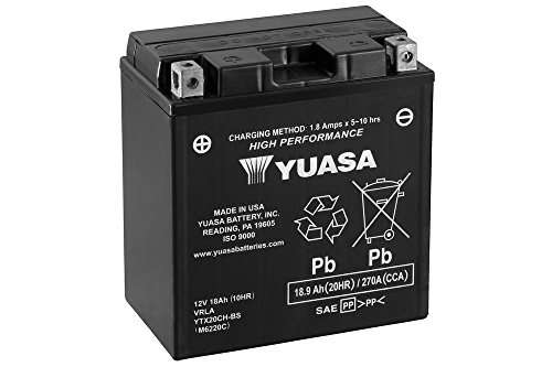 Preisvergleich Produktbild Motorrad Batterie YUASA YTX20CH-BS,  12V / 18AH (Maße: 150x87x161)