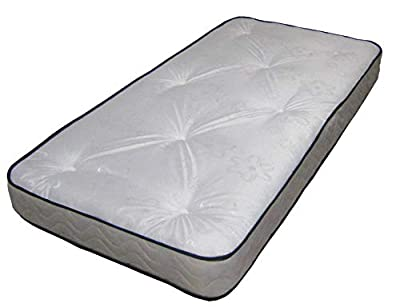 Black & White Daisy Tufted Mattress Great For Kids, Bunk Beds, Cabin Beds Etc by eXtreme comfort ltd