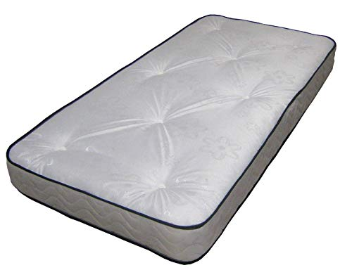 Black & White Daisy Tufted Mattress Foam Free - Great Budget For Kids, Bunk Beds, Cabin Beds Etc by eXtreme comfort ltd