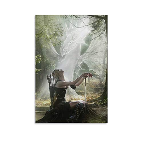 ZILEI Celtic Woman Warrior Art A1 Canvas Art Poster and Wall Art Picture Print Modern Family Bedroom Decor Posters 08×12inch(20×30cm)