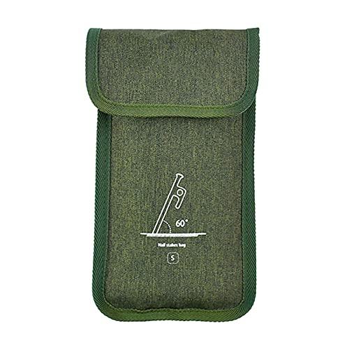 woyada Bolsas de almacenamiento de uñas de tela Oxford para toldos de tienda de campaña, pequeños accesorios al aire libre