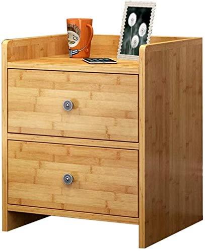 Mesita de noche simple y moderna de bambú gabinete de almacenamiento de la mesita de noche armario armario de noche mesita de noche práctico muebles mesa auxiliar