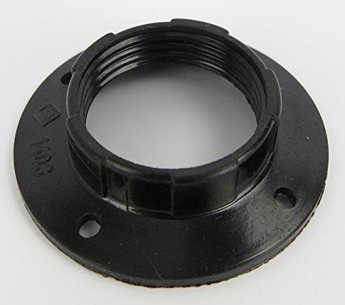 Schirmträgerring Lampenring für Lampenschirm Schraubring Gewinde Schirm Ring E14 Fassung schwarz Schraubring Bakalit