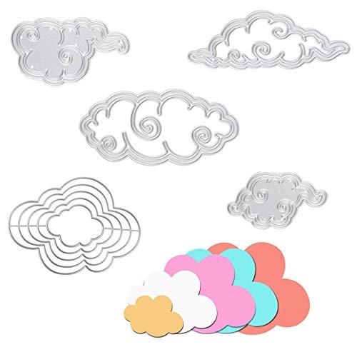 OOTSR 9 Piezas Plantilla de Corte de Metal, Patrón de Nubes Troqueles de Corte Troquel...