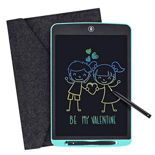 LCD Writing Tablet, 12 Inch Digital Ewriter Colorful Electronic Graphics Tablet Portable Mini Writing Board Handwriting Doodle Pad Drawing Tablet Memo Notebook for Kids Adult Home School Office Blue