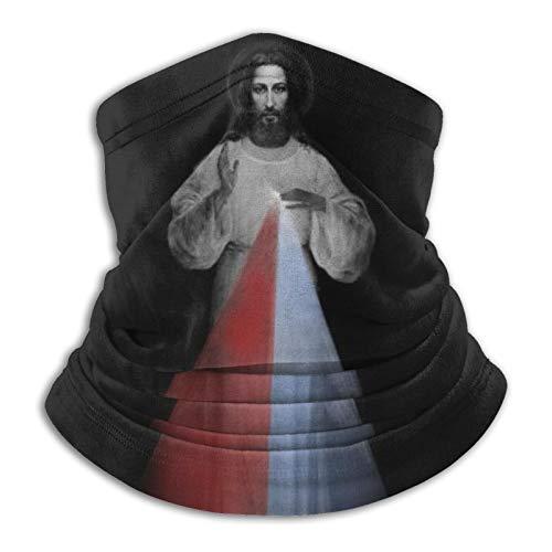 Jesucristo Religioso Calentador a prueba de viento Polaina Multifuncional Bufanda Bandanas Máscara Cara Negro
