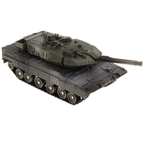 FLAMEER Pull Back Armee Fahrzeug - Zurückziehen Chinesische Panzer Tank Spielzeug - 14x8x5 cm - Leopard 2