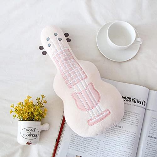 Peluches De Guitarra Rosa, Almohada De Abrazar De Algodón Suave De Primera Calidad, Muñeco De Peluche De Guitarra, Muñeco De Peluche, Niños, Niñas (37Cm)
