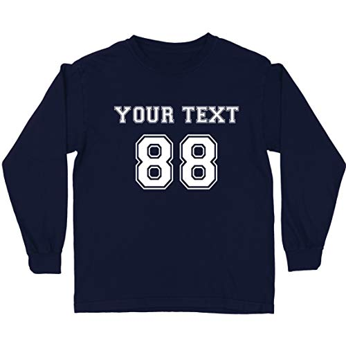 lepni.me Camiseta para Niños Haga su Propia Camisa Personalizada Añada su Nombre Número de Texto (14-15 Years Azul Multicolor)