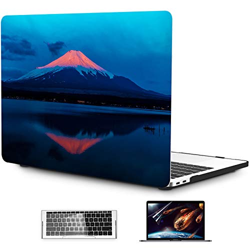 OneGET MacBook Pro 13 Inch Case 2016 2019 A1989 A1706 A1708 A2159 3 in1 Plastic Hard Shell Case & Keyboard Cover & Clear Screen Protector (S79)