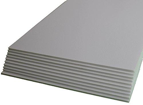 20 Platten-Set, weiß, 3 mm dick, format A4, 21 x 29,7 mm