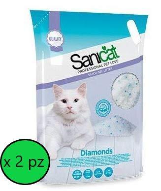 Sanicat Diamonds - Lechera de Cristal 7,5 l – 2 Bolsas
