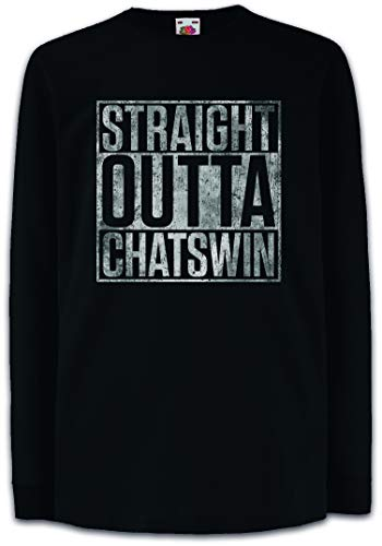 Urban Backwoods Straight Outta Chatswin Kinder Kids T-Shirt Met Lange Mouwen