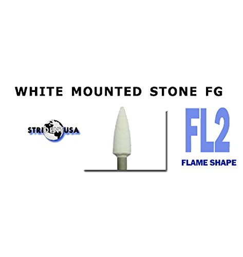 White Mounted Stones FL2 Dental Polishing 12/per Box